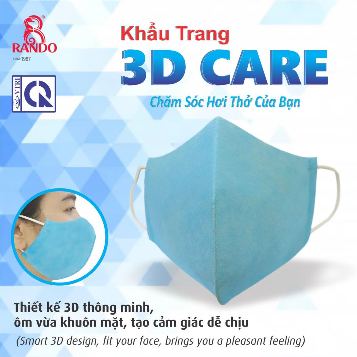 Thiết kế 3D thông minh, ôm vừa khuôn mặt